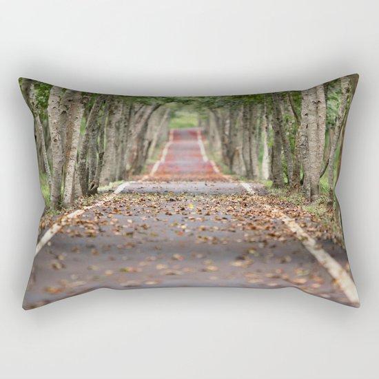 wood le chemin Rectangular Pillow