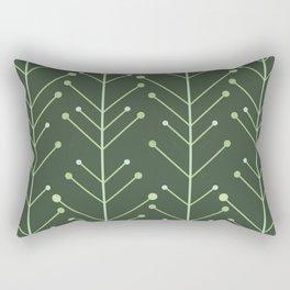 Mid Century Modern Nature Stems (Dark) Rectangular Pillow