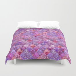 Mermaid Scales - Purple Duvet Cover