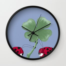You Are My Good Luck Charm Wall Clock