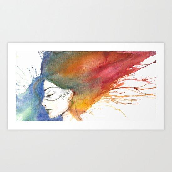 Falling asleep Art Print