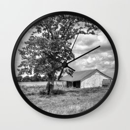 Old Shed in Richmond Texas Wall Clock