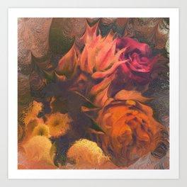 Blushing Brides and Roses Art Print