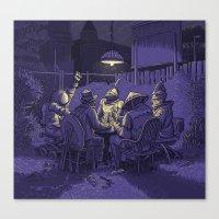 poker Canvas Prints featuring Poker by Siou Escallon