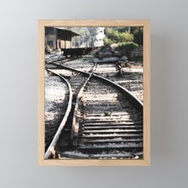 Abandoned Rail Tracks Framed Mini Art Print