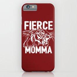 Fierce Momma / Red iPhone Case
