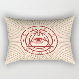 Dare to Discover - All Seeing Eye Rectangular Pillow