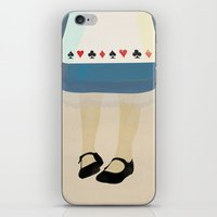 alice in wonderland iPhone & iPod Skins featuring Alice In Wonderland by magicblood