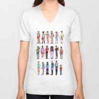 les miserables V-neck T-shirts featuring Les miserables by Puckboum