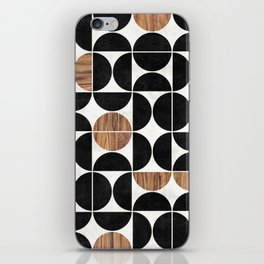 Mid-Century Modern Pattern No.1 - Concrete and Wood iPhone Skin