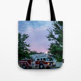 City of Thomson Georgia Firetruck Sunset Tote Bag