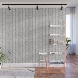 Mud cloth - Grey Arrowheads Wall Mural