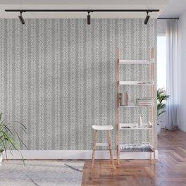 Mud cloth - Grey Arrowheads Wall Mural