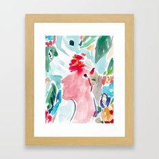 Mitchell the Cockatoo Framed Art Print