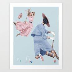 Croquet and Ink Eleven Art Print