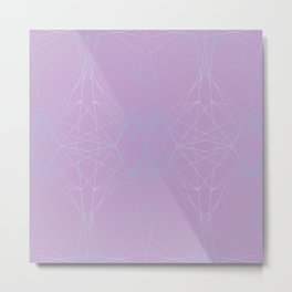 LIGHT LINES ENSEMBLE CROCUS PETAL Metal Print