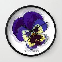 Flor Pensamiento Wall Clock