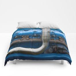 Blue Tractor Motor Comforters