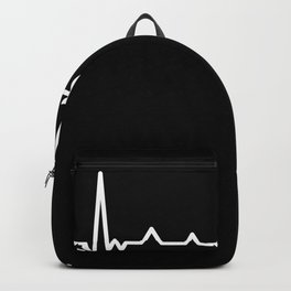 Guitar Heartbeat Gift for Guitarist Backpack
