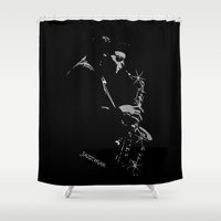 saxophone Shower Curtains featuring Saxophone Jazz Player by OnlineGifts
