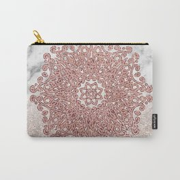 Rose gold mandala marble glitter ombre Carry-All Pouch