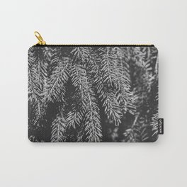 Branches of spruce full frame nature background. Carry-All Pouch
