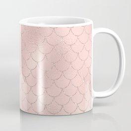 Glam Pink Mermaid Scallops Pattern Coffee Mug