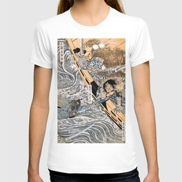 Kuniyoshi Utagawa, The ghost of Taira Tomomori, Daimotsu bay T-shirt