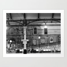 Newcastle Central Station, England.  Art Print