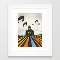 tron Framed Art Prints featuring TRON by Sam Hetherington