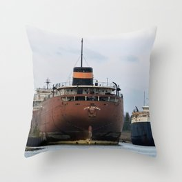 John Sherwin Freighter Throw Pillow