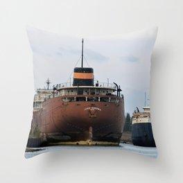 John Sherwin Freighter Throw Pillow