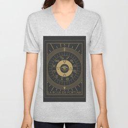 La Roue de Fortune or Wheel of Fortune Tarot Unisex V-Neck