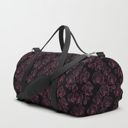 Seamless flower pattern with orchids phalaenopsis background Duffle Bag