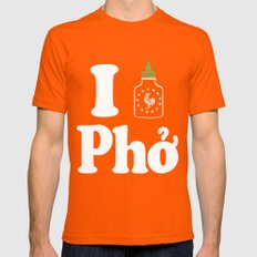 I Heart Pho Mens Fitted Tee Orange SMALL