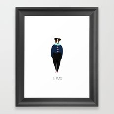 Terrier / Te Amo Framed Art Print
