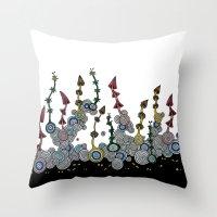 mushroom Throw Pillows featuring mushroom by SENGA