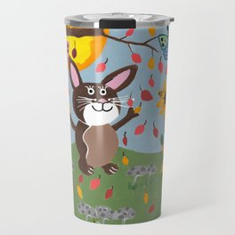 Autumn Bunny Travel Mug