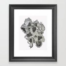Crystalised Framed Art Print