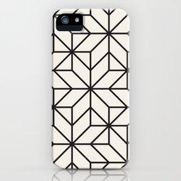 Black & White Geometric Pattern Mosaic Maze iPhone Case