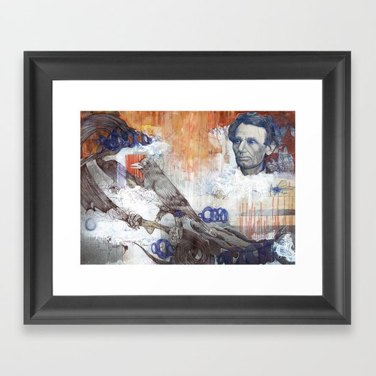 Beardless Woods Framed Art Print
