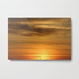 Sunset on Topsail Island Metal Print