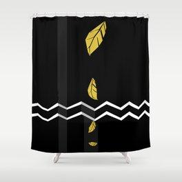 Meraki Fall [Gold Noir] Shower Curtain