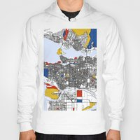 mondrian Hoodies featuring Vanvouver Mondrian by Mondrian Maps