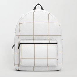 Graph Paper (Tan & White Pattern) Backpack