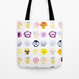 colorful pansies watercolor painting Tote Bag