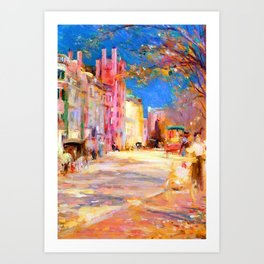 Edward Mitchell Bannister Boston Street Scene Art Print
