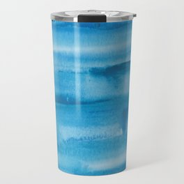 4   |  190408 Blue Abstract Watercolour Travel Mug