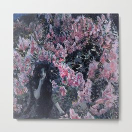 Stunning Lilacs in Blossom by Mikhail Vrubel Metal Print