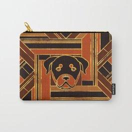 Art Deco Rottweiler dog Carry-All Pouch